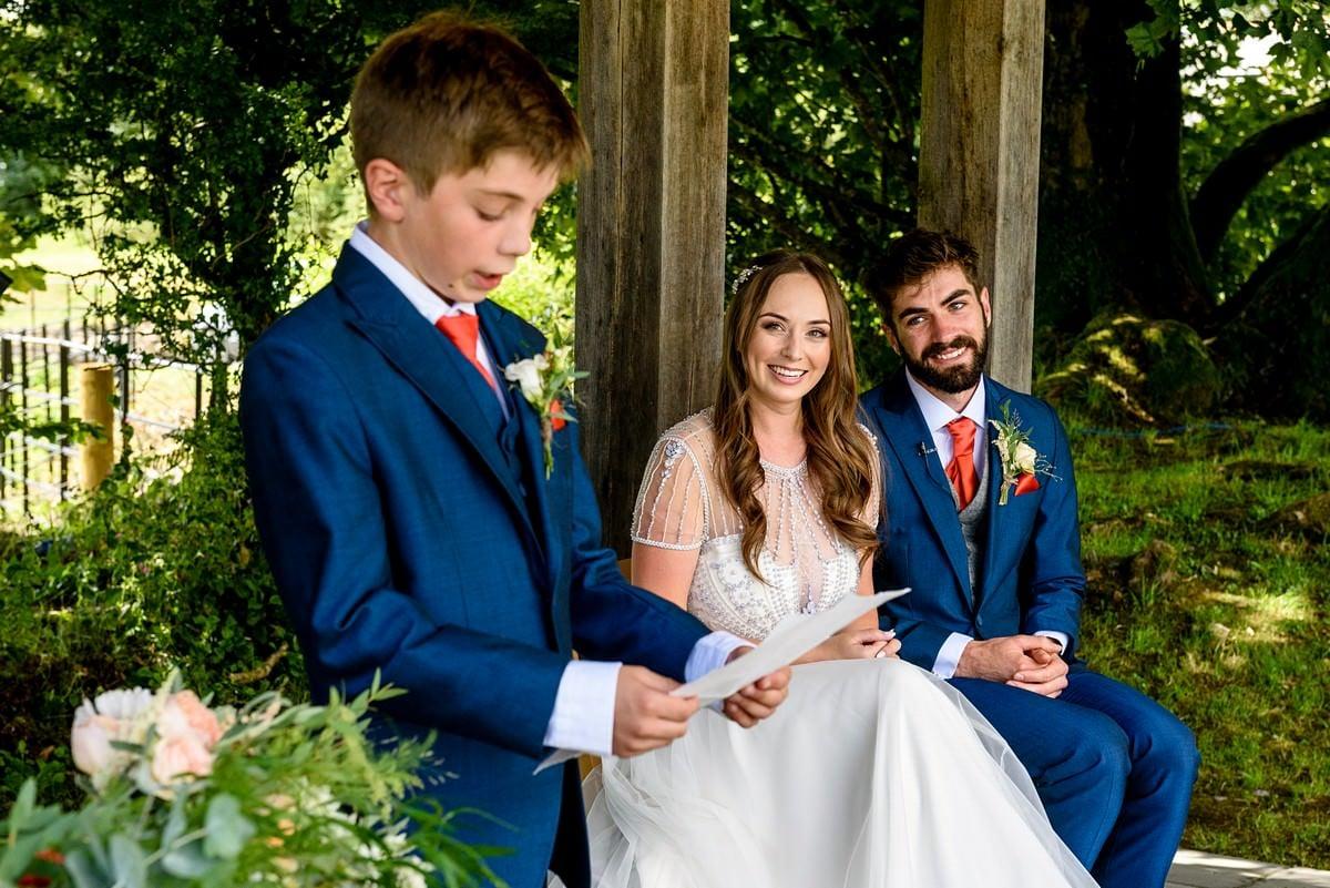 wedding readings at Trevenna barns