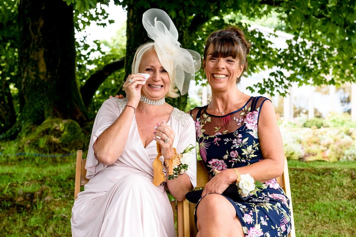tears of joy at a Trevenna barns wedding