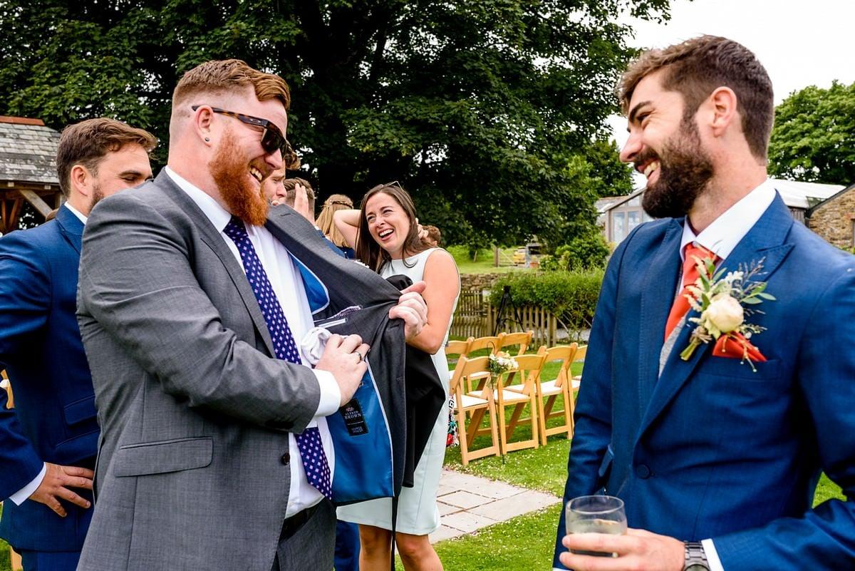 wedding guest at trevenna barns