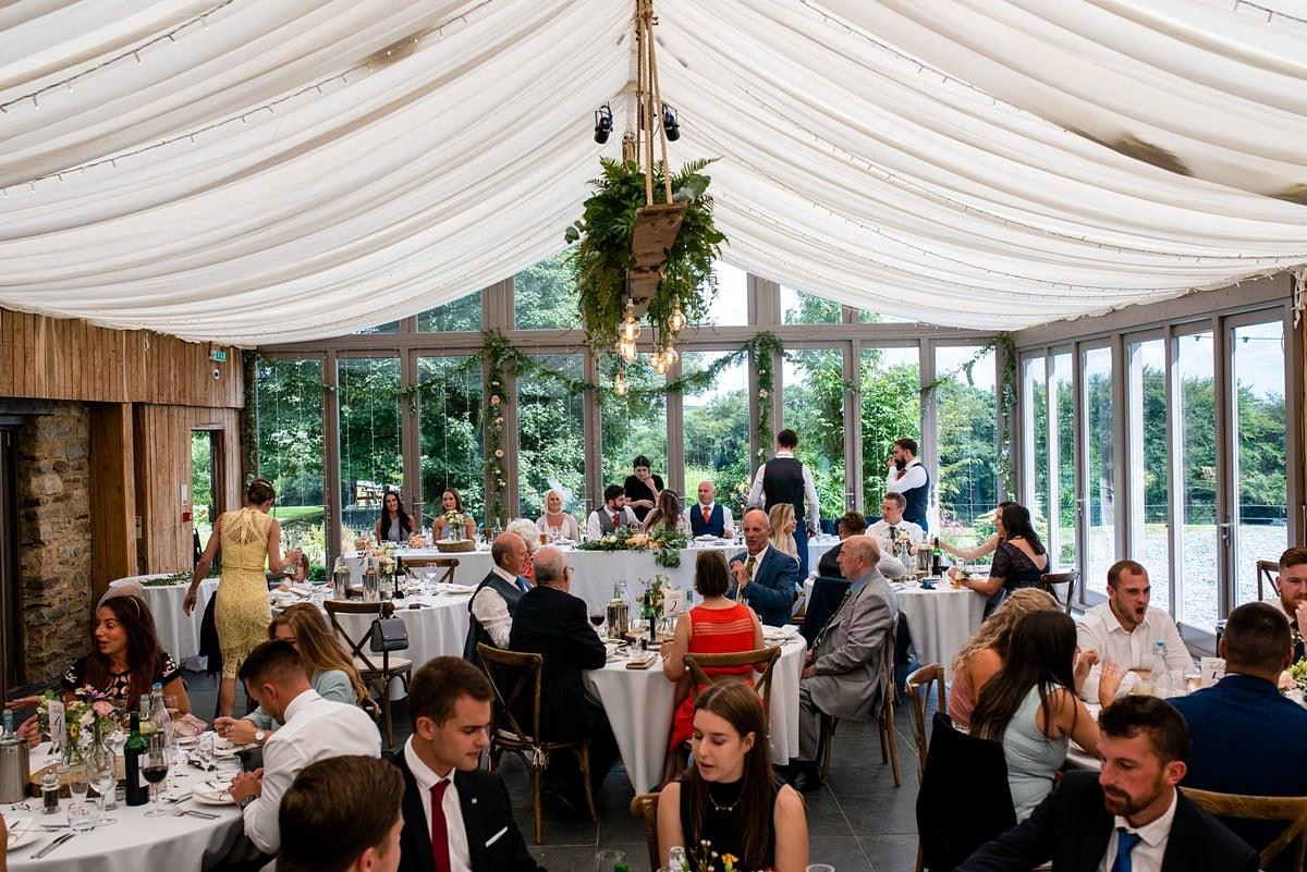 marquee wedding at Trevenna barns