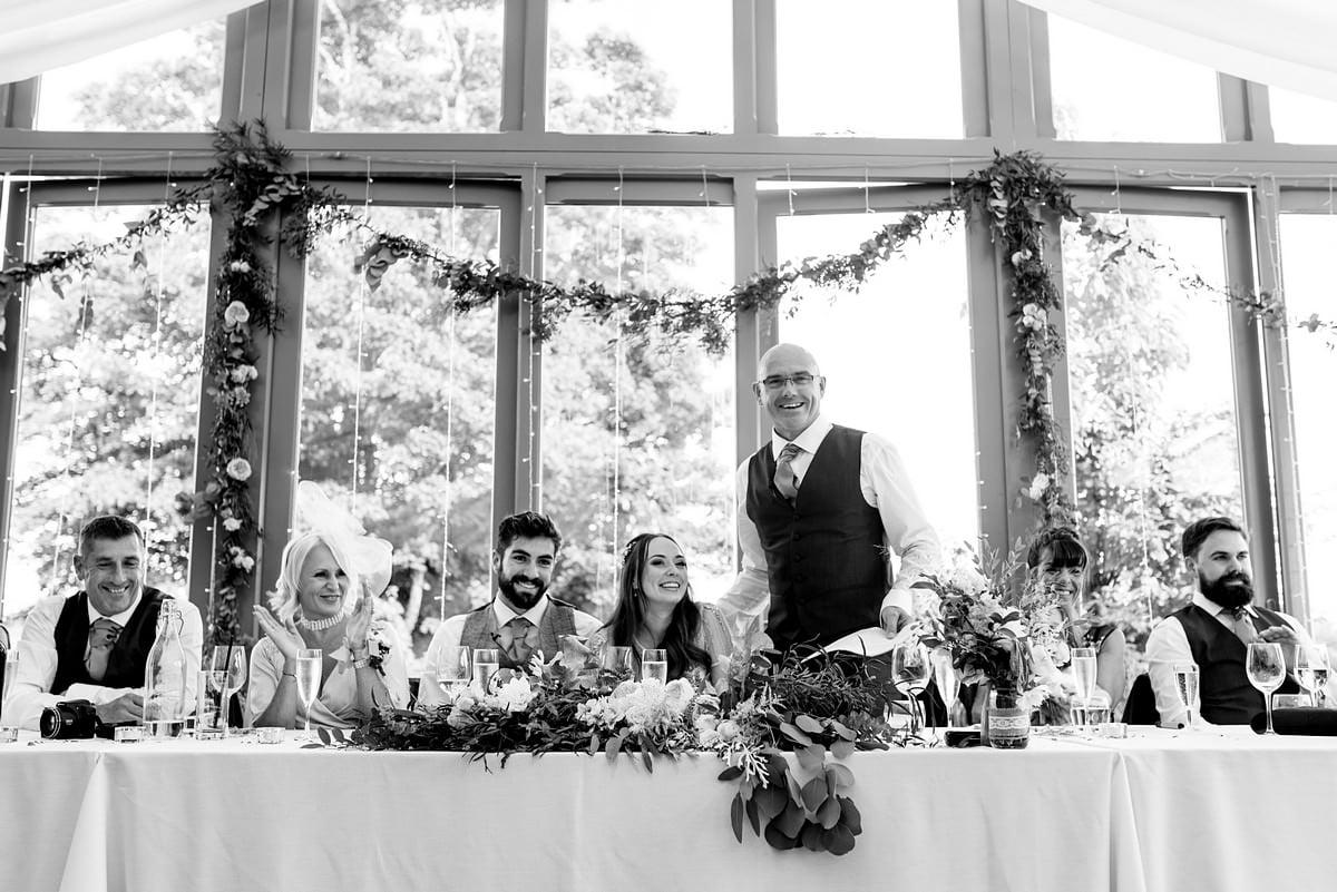 father of the bride wedding speech at Trevenna Barns