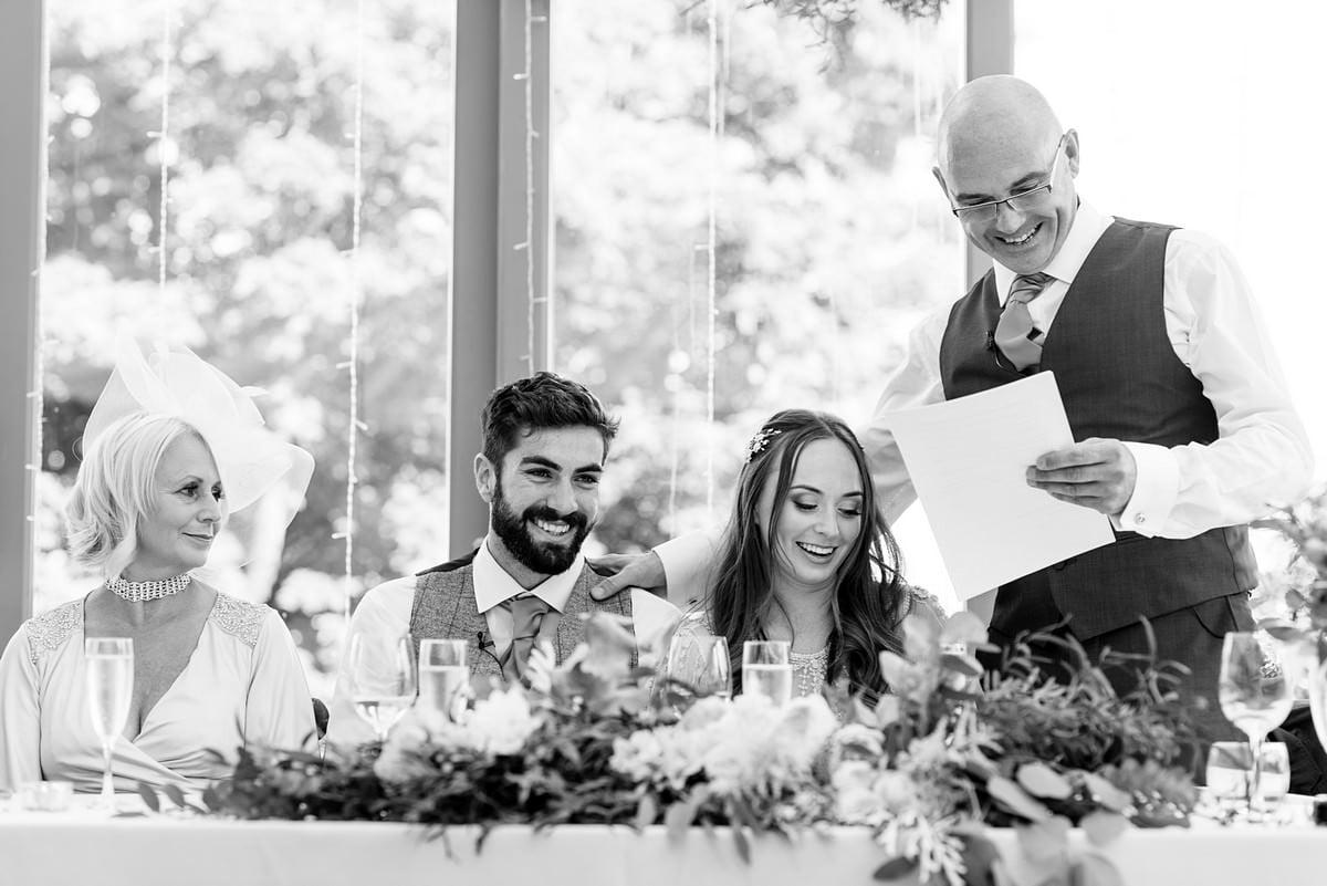 wedding speeches at trevenna Barns