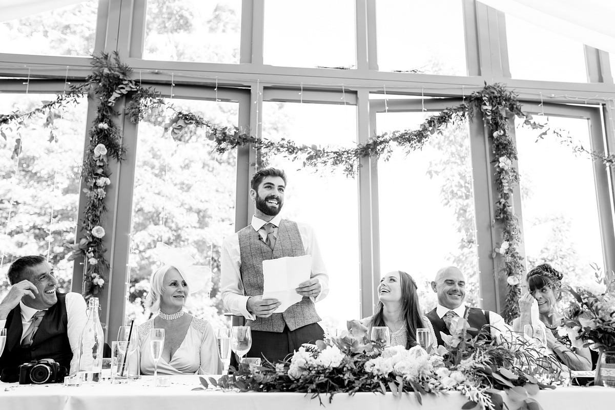 Trevenna barns wedding speeches