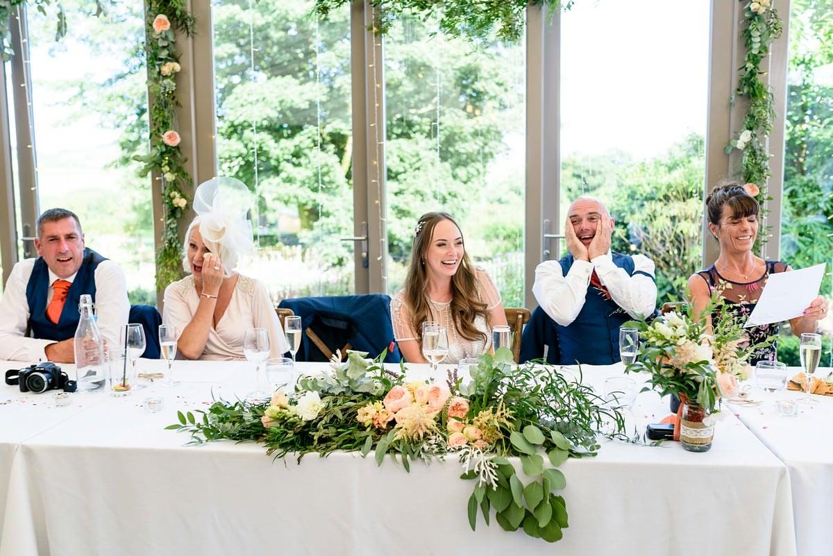 Happy wedding at Trevenna barns