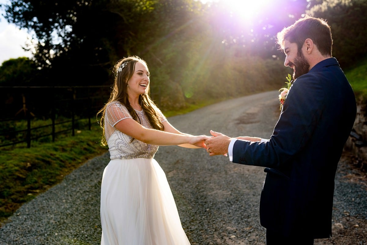 wedding photography at Trevenna barns in Cornwall