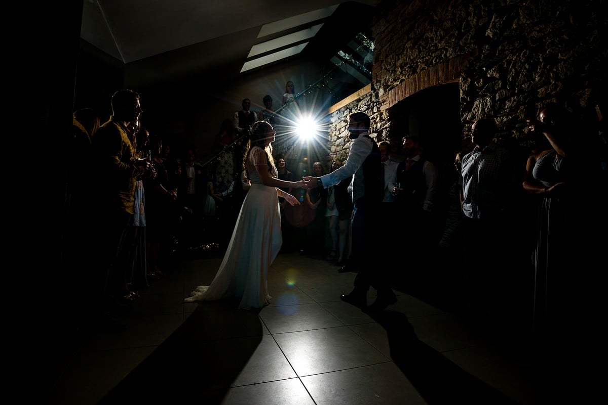First dance at Trevenna Barns in Cornwall