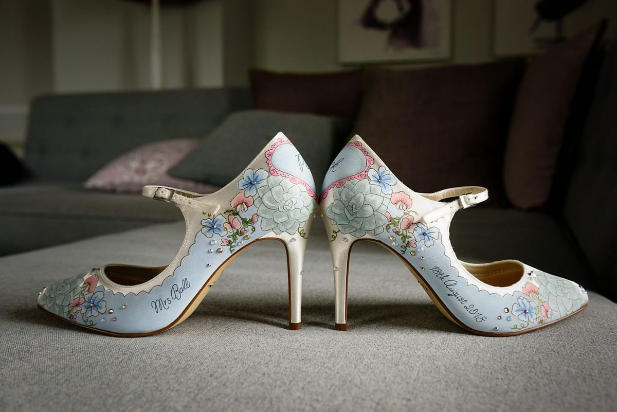 wedding shoes at the Isles of Scillys wedding