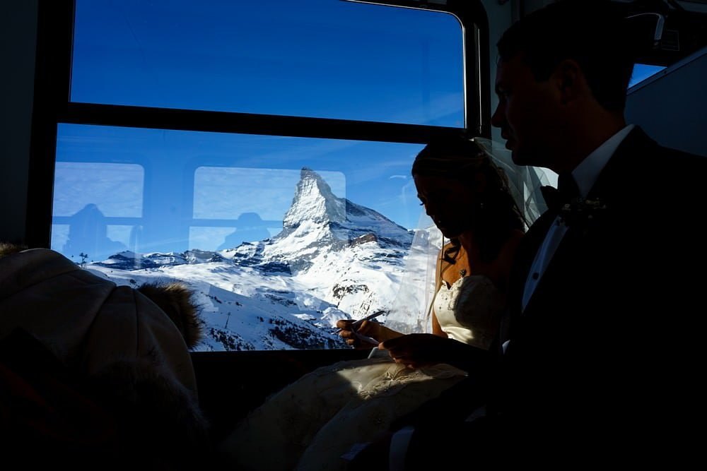 view from your wedding in zermatt