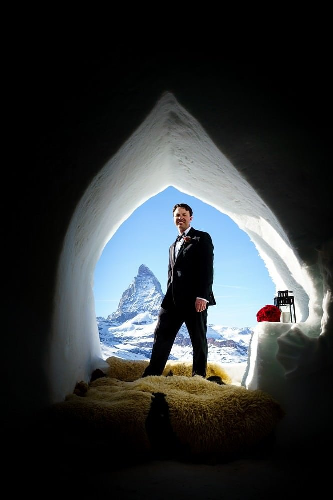 groom at Igloo dorf