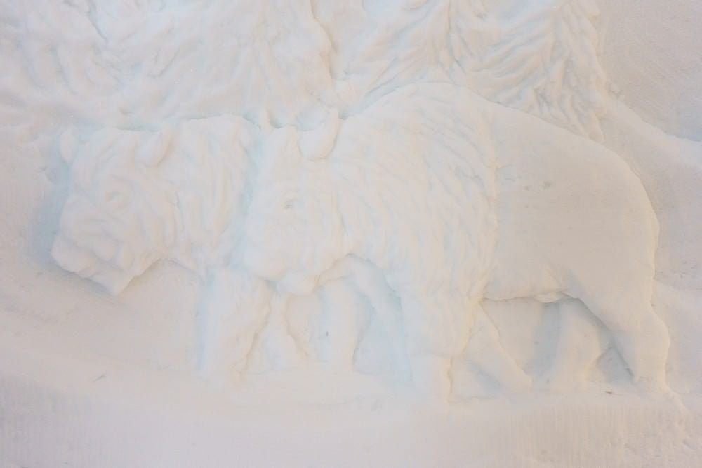 Igloo ice carving in zermatt