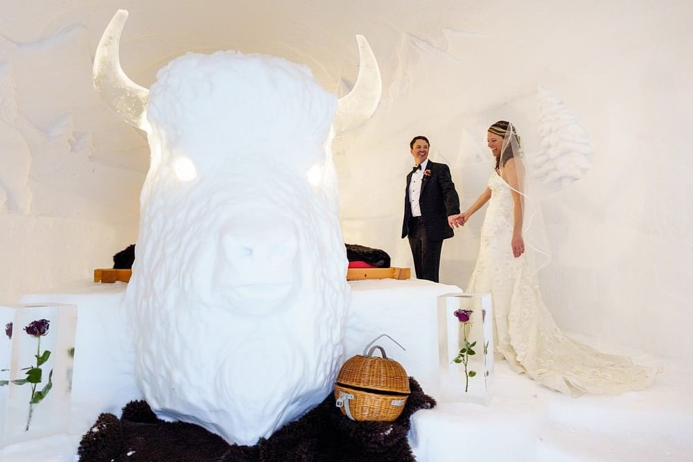 wedding suite at Igloo village