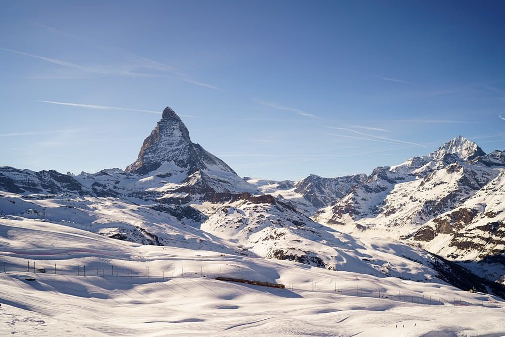 wedding view from Igloo village of the matterhorn