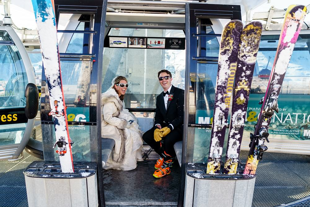 ski lift on your wedding