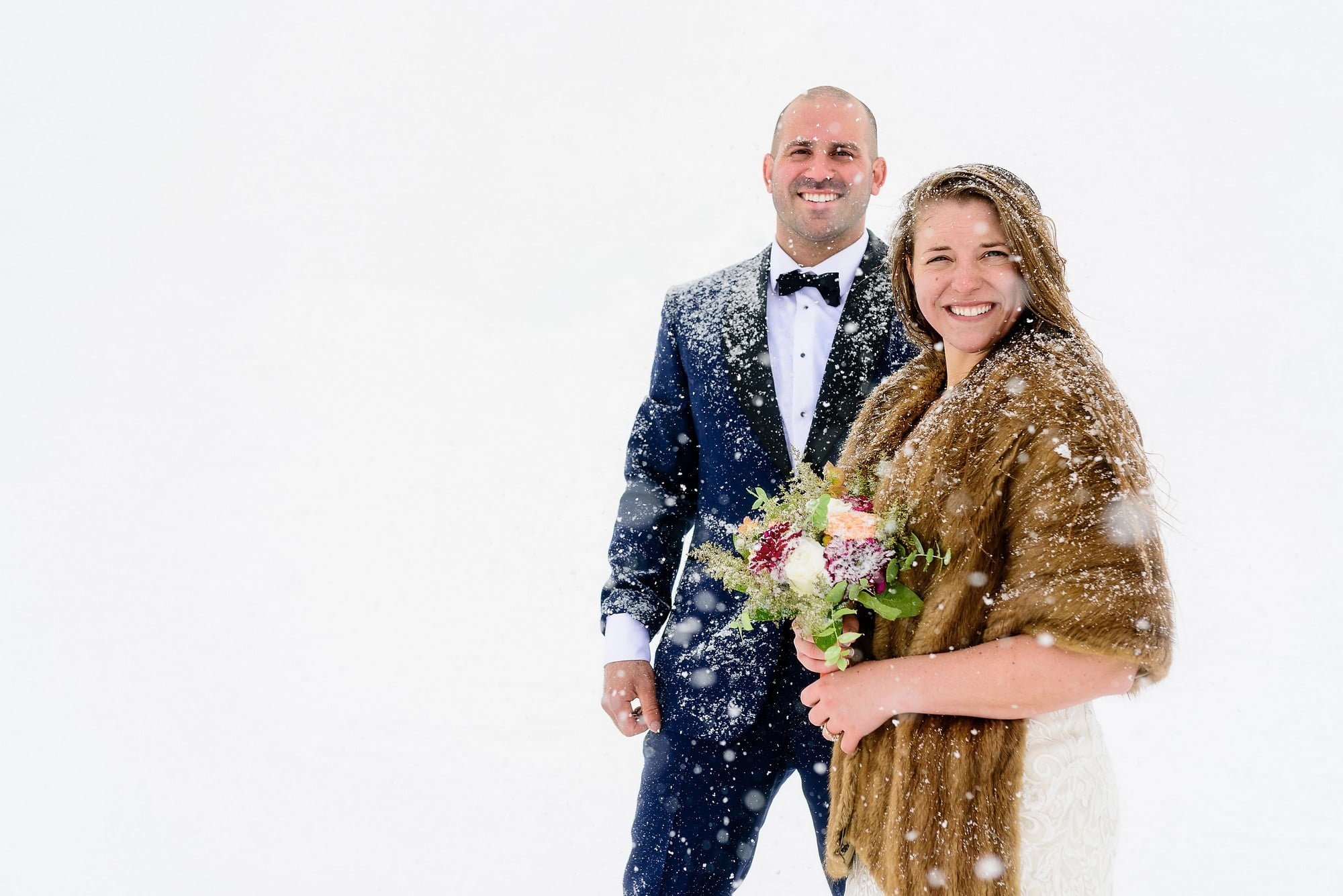snowing at your wedding