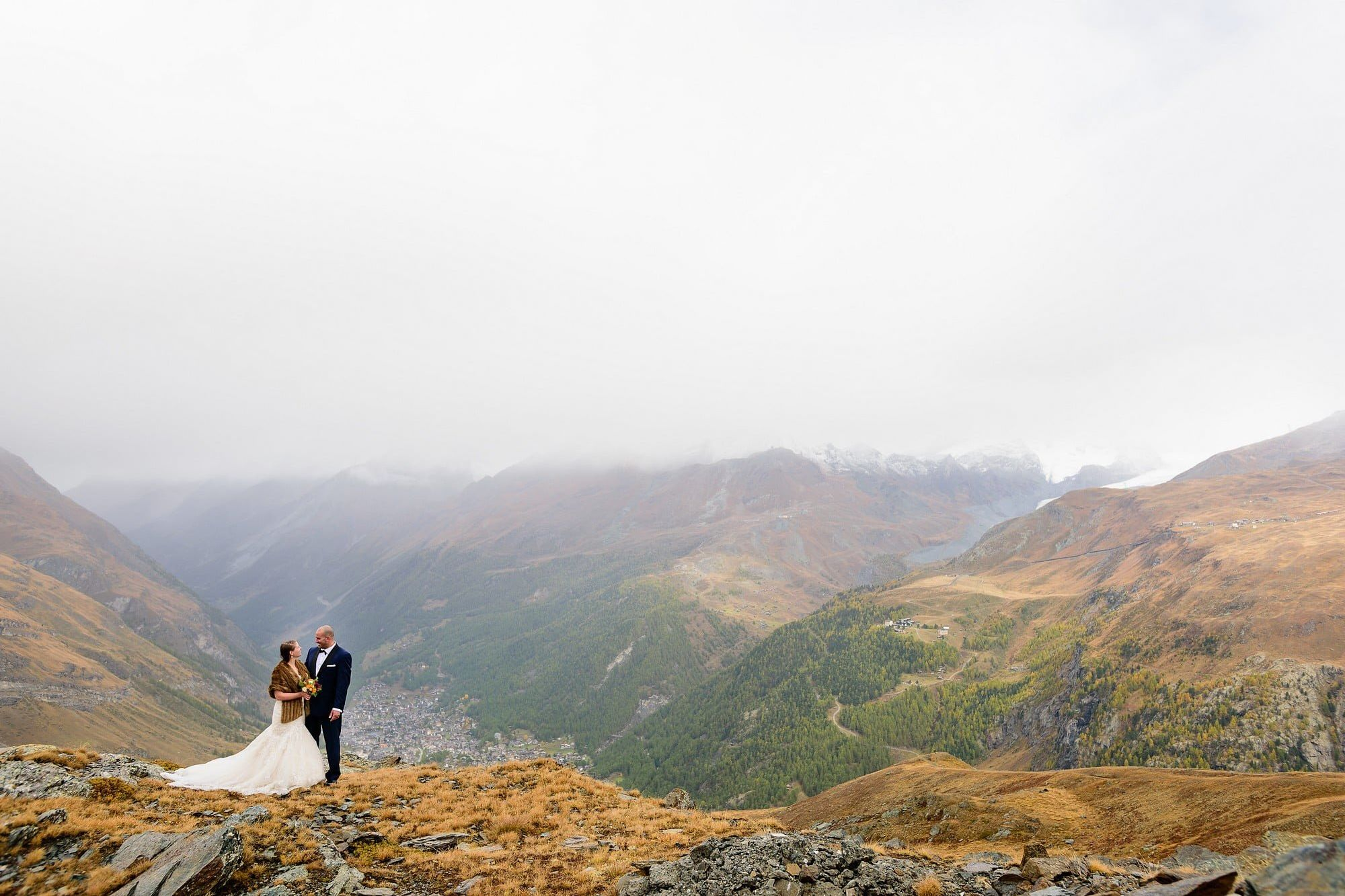mountain wedding in the alps
