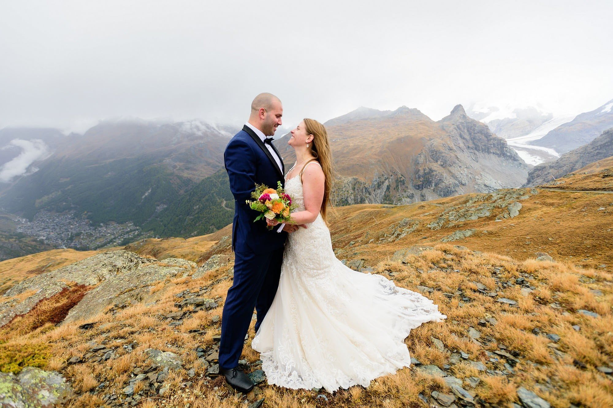 summer wedding in zermatt