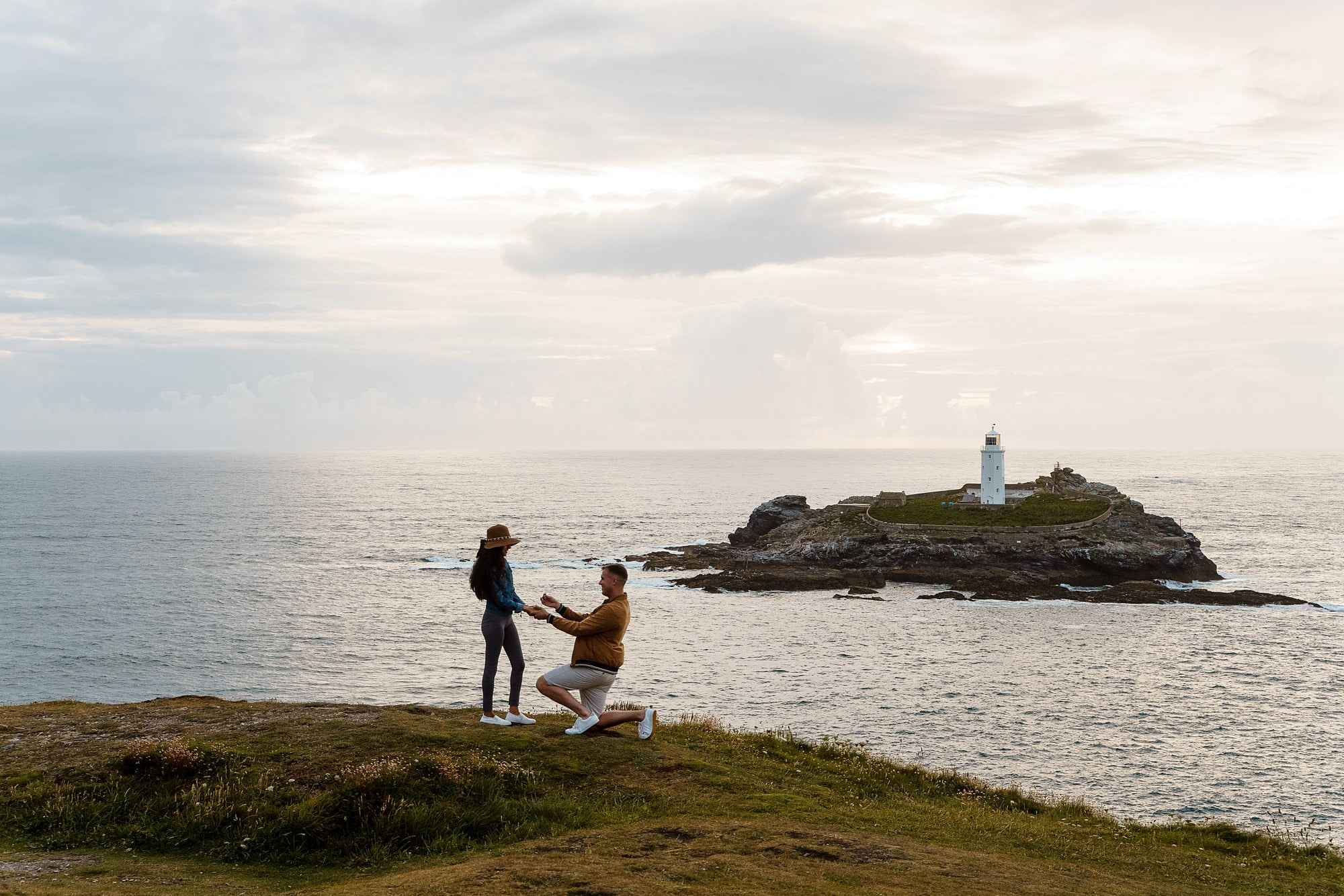 Cornish coast wedding proposal 2