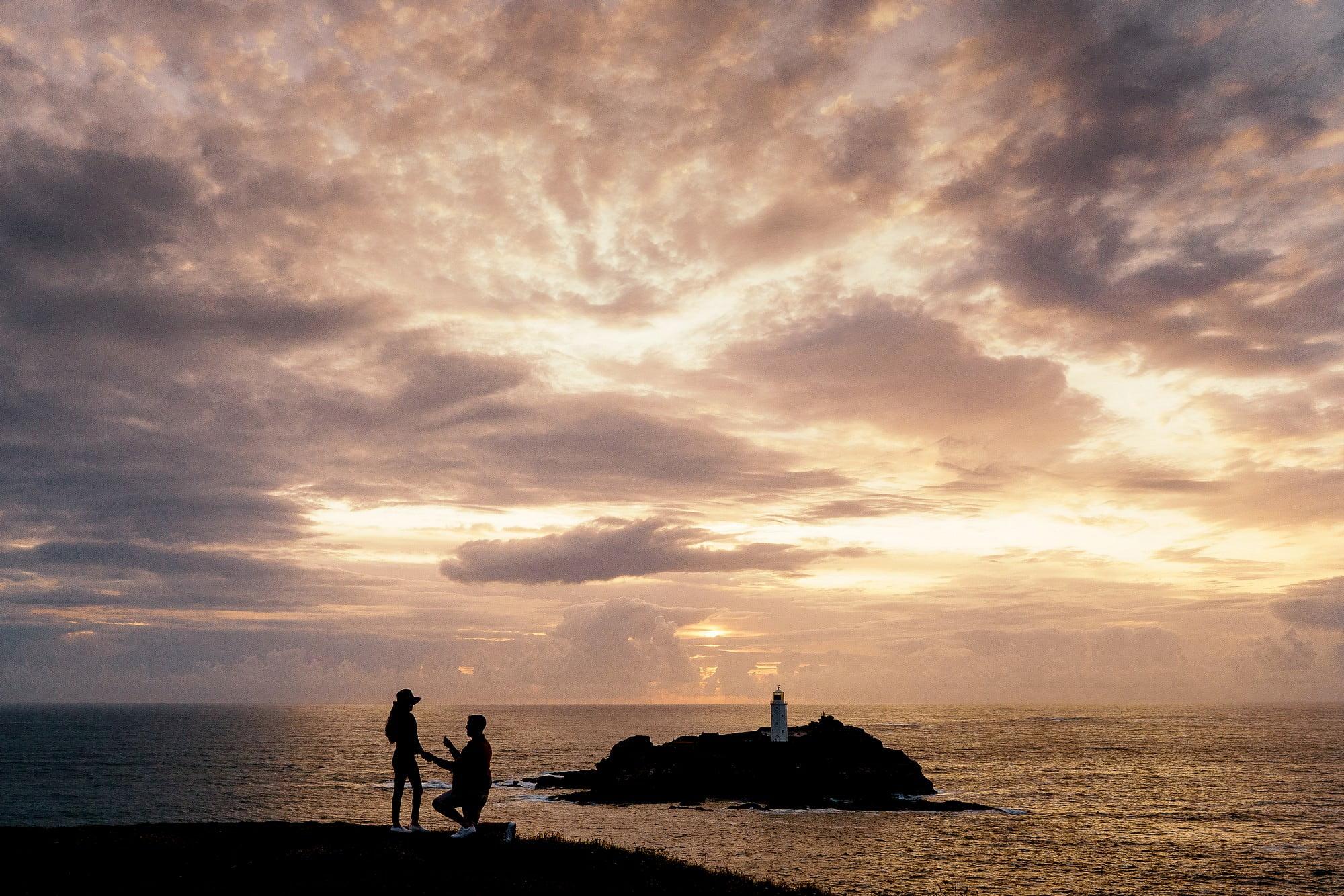 Cornish coast wedding proposal 3