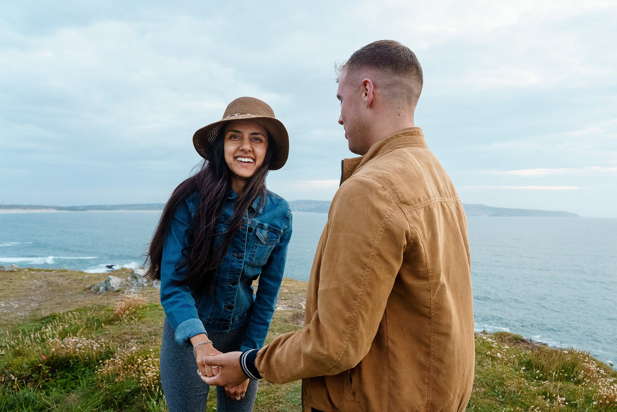 Cornish coast wedding proposal 6
