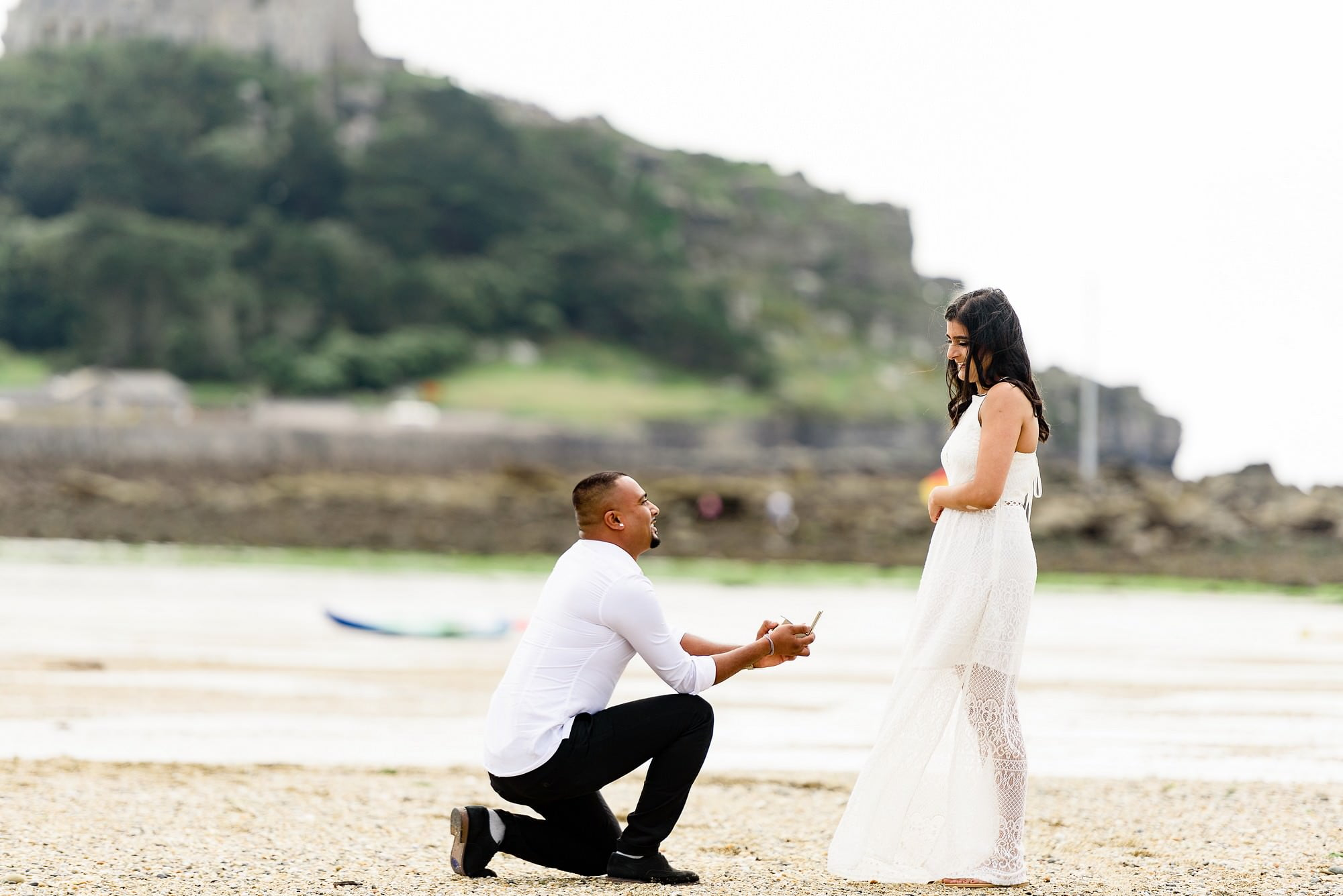 St Michaels mount wedding proposal