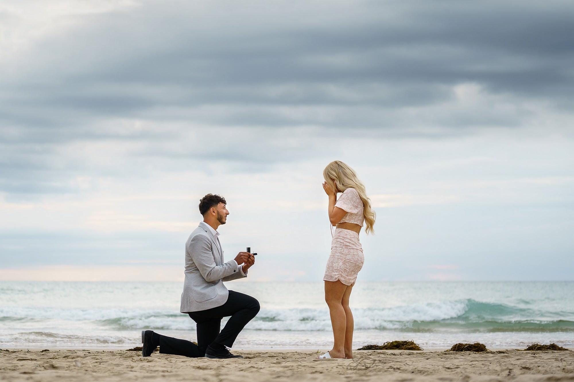 cornish coast wedding proposal 1