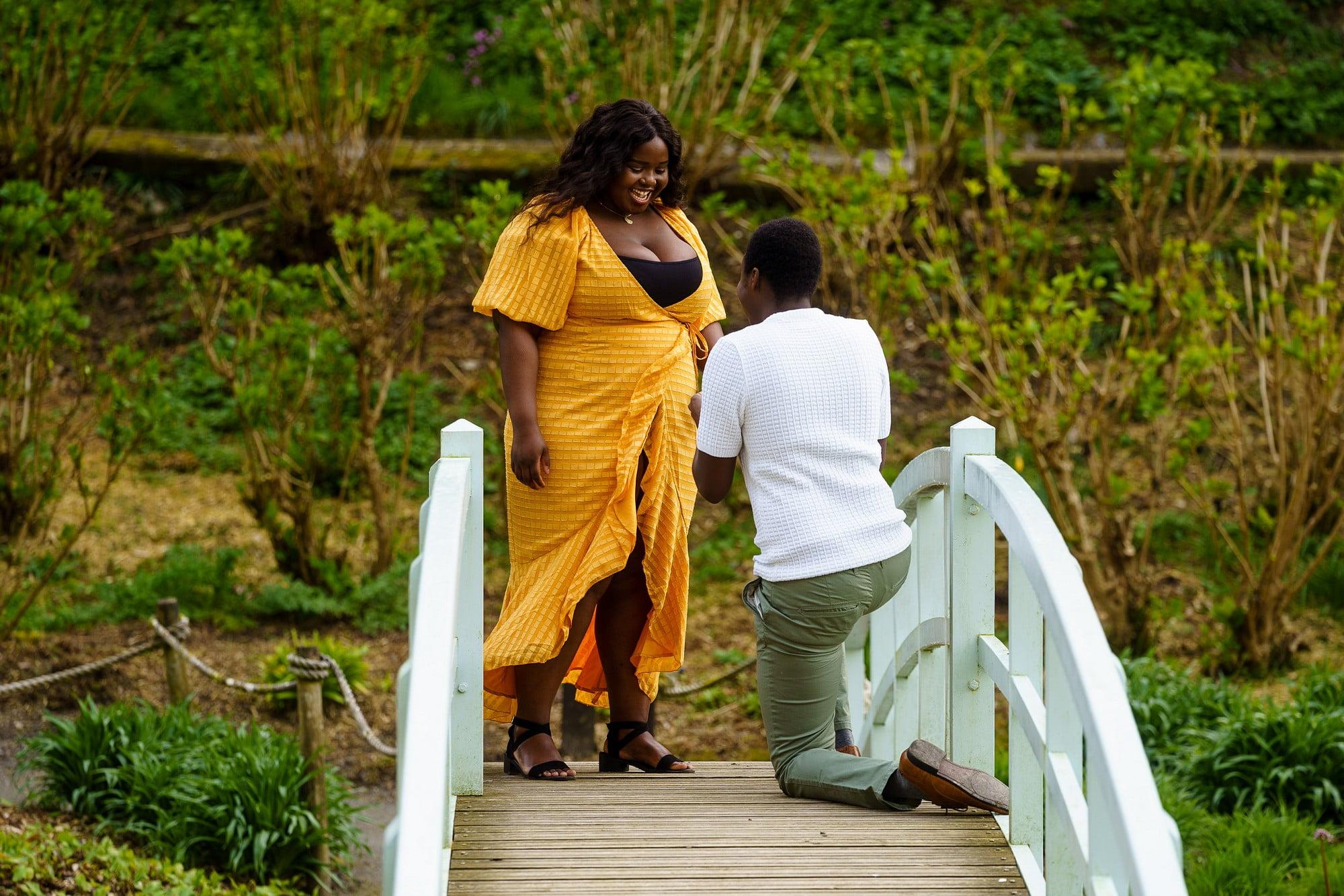 Romantic wedding proposal in Cornwall 1