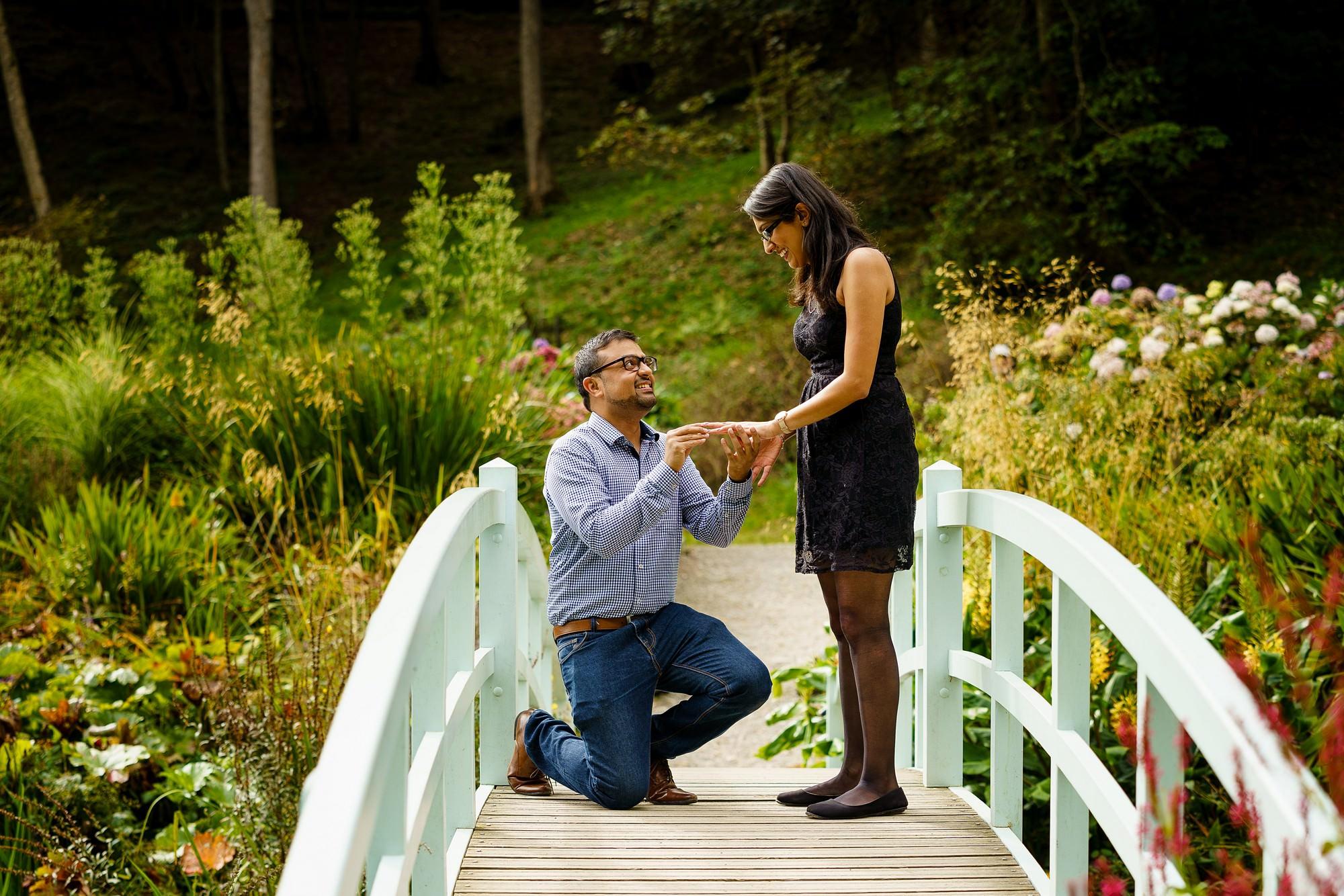romantic wedding proposal in Cornwall