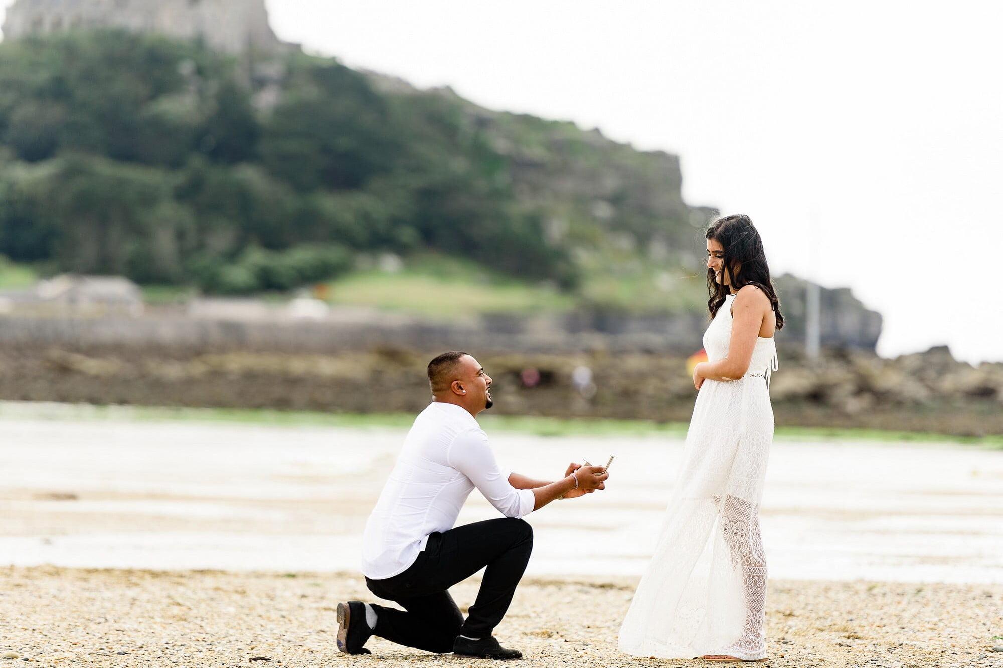 st michaels mount wedding proposal 11